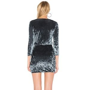 Lovers + Friends Dresses - Lovers + Friends Crudhed velvet Dress in Steel